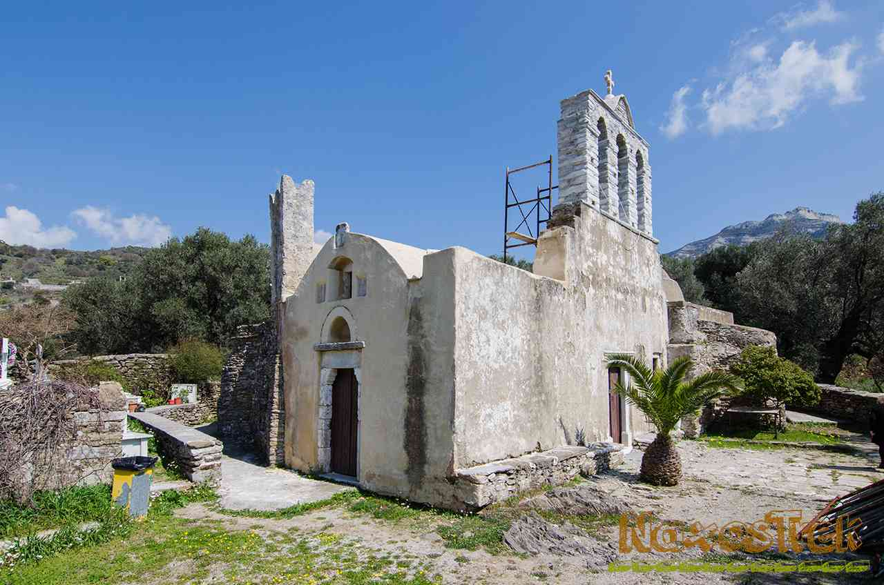 Panagia Drosiani Byzantine church Hiking Halki Naxos Greece