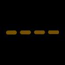 Hiking map symbol: Smooth dirt road