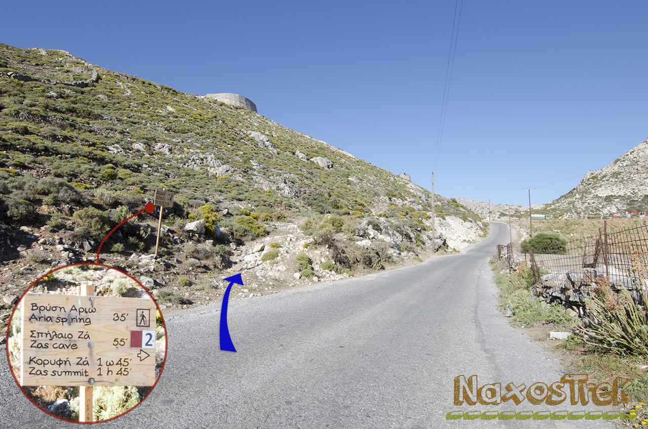 Hiking Naxos - Trekking route 2- Filoti - Mount Zas