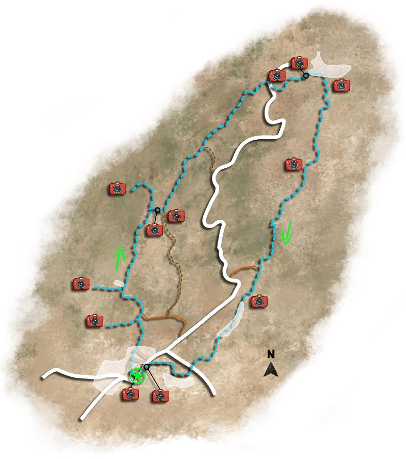The map of hiking trail 4. Naxos Chalki.